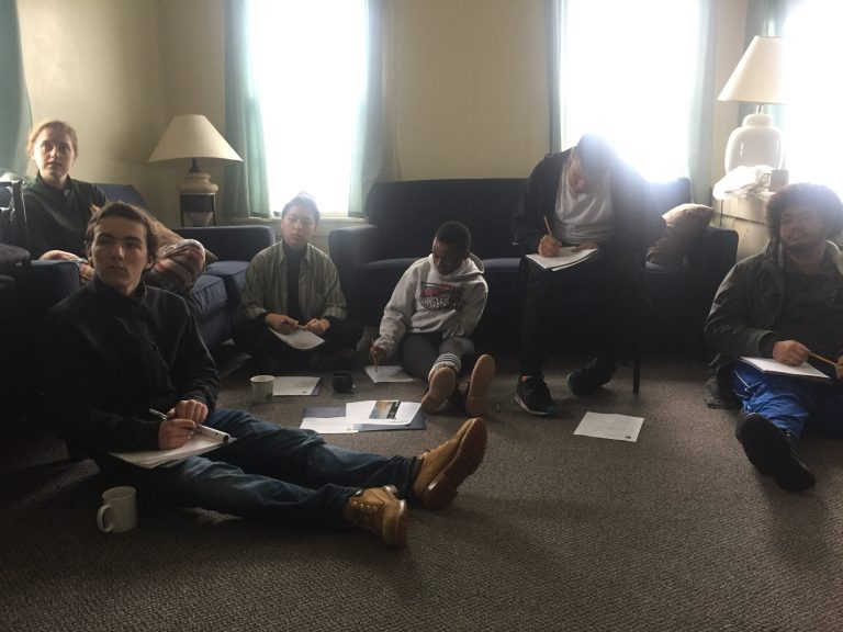 Photo of Fall 2017 PLACE Fellows listening to Cape Cod's Chief of Natural Resource Management and Science