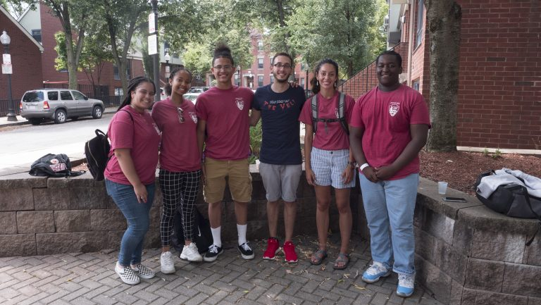 Image of 2019 HdB Cohort and HdB Lead Sophia Bass Werner with Pedro -- of IBA