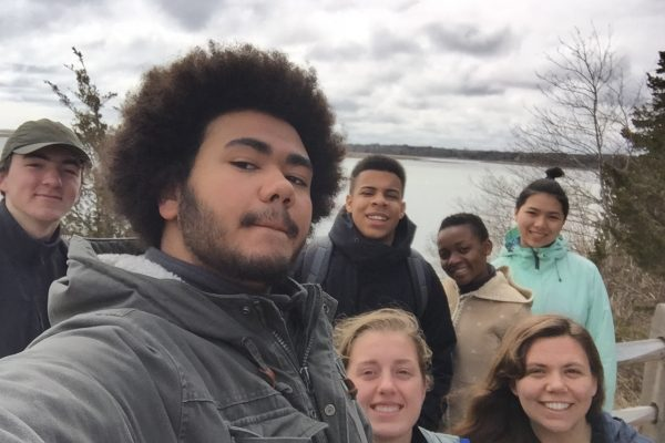 Selfie of Fall 2017 PLACE Fellows and program leads at Cape Cod National Seashore