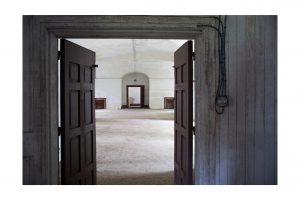 Series of doors on Georges Island